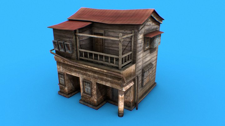 Hause   Wooden   Red 3D Model
