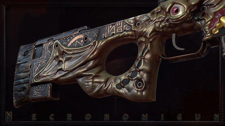 AWP | Necronomigun | Cursed 3D Model