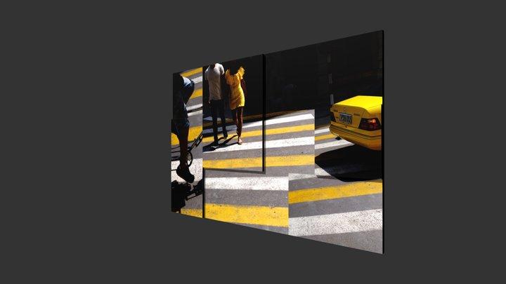 3d Taxi Pasy 3D Model