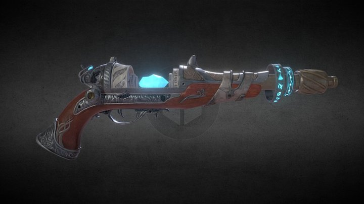 Arcane Gun mk2 3D Model