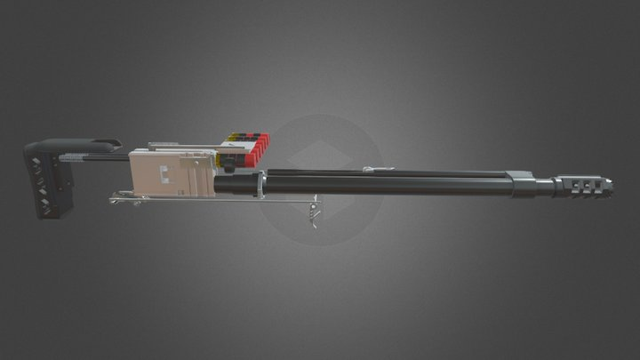 Raider Shotgun Animation 3D Model