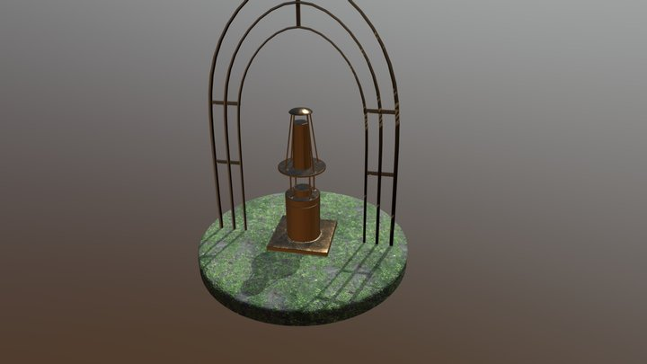 Арт-объект Шахтерская лампа 3D Model