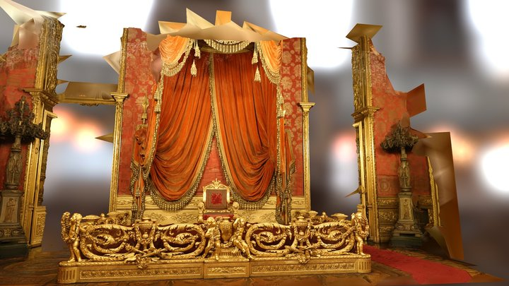 Palazzo Reale, Turin. Throne room 3D Model