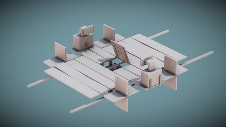 A Boater from God s' Margarita 3D Model