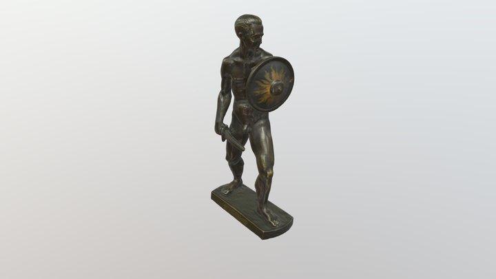 M. Verch. Karys su skydu ir kalaviju 3D Model