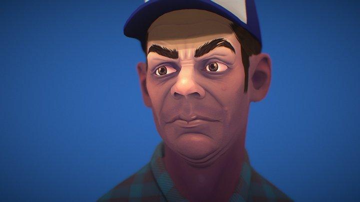 Trucker Character 3D Model