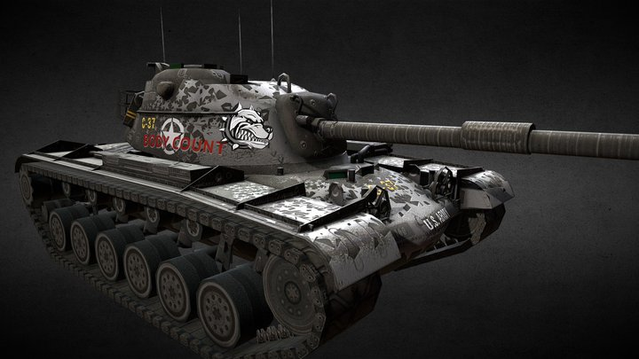M48A1 Patton Pit Bull 3D Model