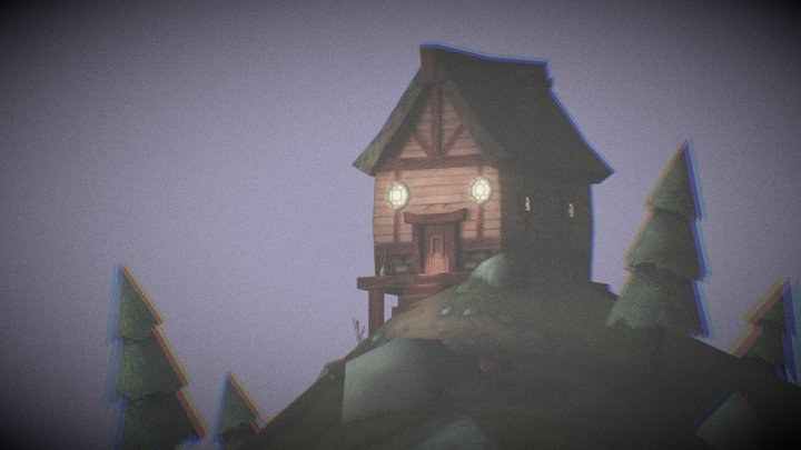 Scary Mountain Cottage 3D Model