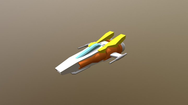 Tiny Toy Space Ship 3D Model