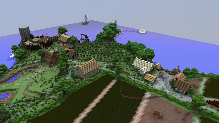 Farmer's Island 3D Model