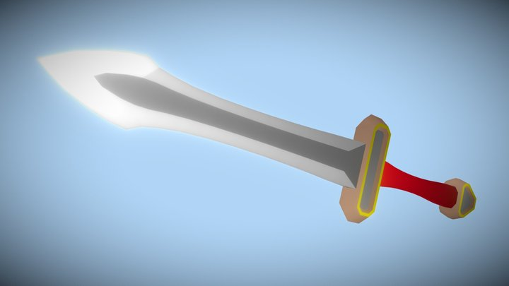 Iron Dagger (Low Poly) 3D Model