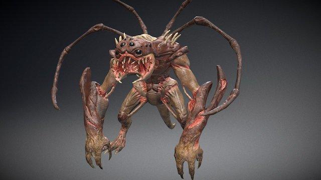 """Sci-fi """"Spider Lizard"""" creature - static pose 3D Model"""