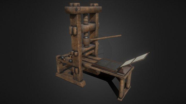 Printing press 3D Model