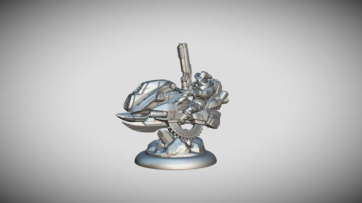 Star Scrappers: Terron Stallion Jetbike Rider 3D Model