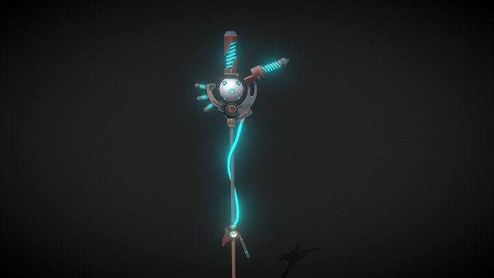 Techno-Magic Crosier 3D Model
