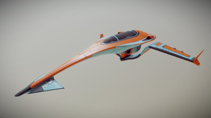 Race Ship 3D Model