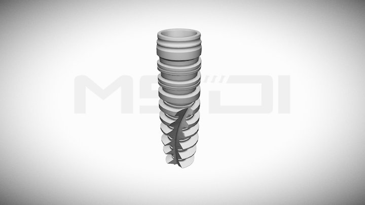 MSDI dental implants- Conical 3D Model
