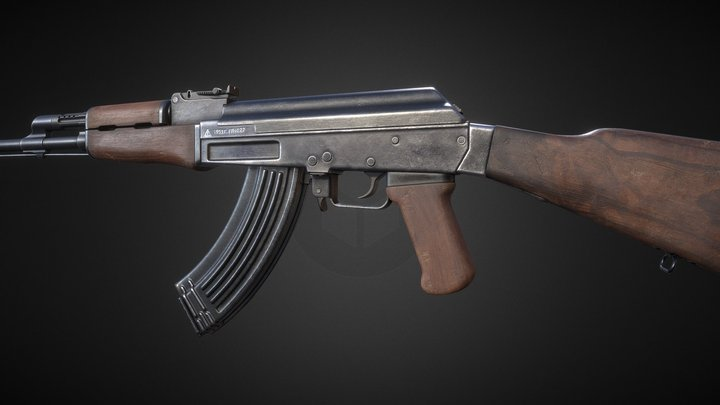 AK-47 Rifle 3D Model