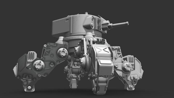 T-29 Robot 3D Model