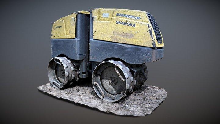 Bomag compactor BMP 8500 3D Model