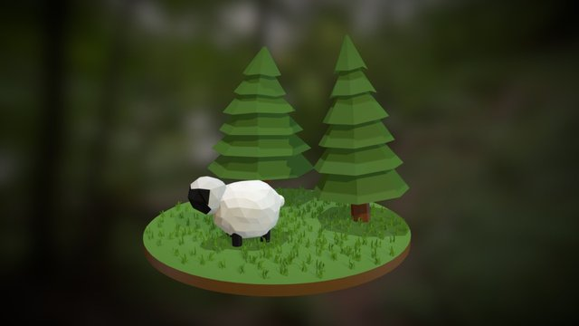 LowPoly Sheep Animation 3D Model