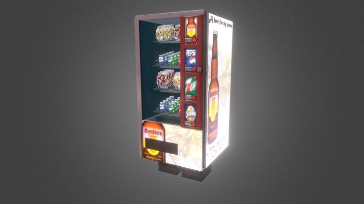 Vending machine with feet 3D Model