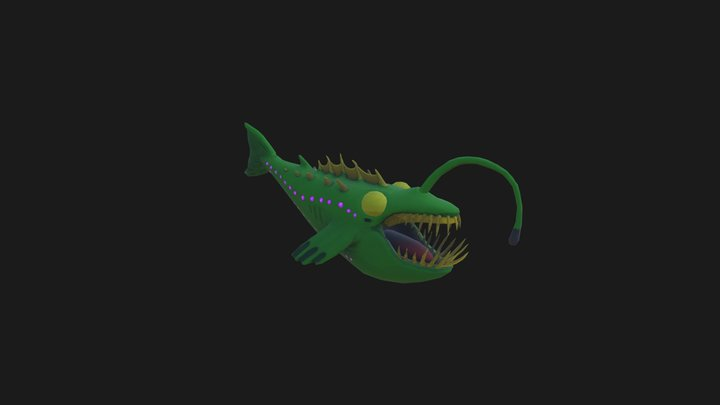 Angler Whale Low 3D Model