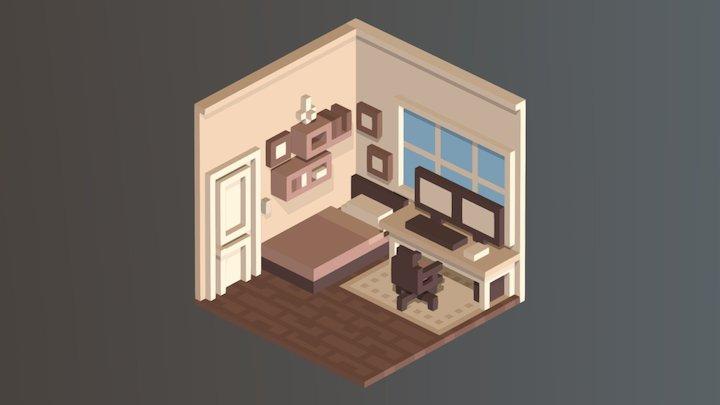 Room 02 / Magica Voxel 3D Model
