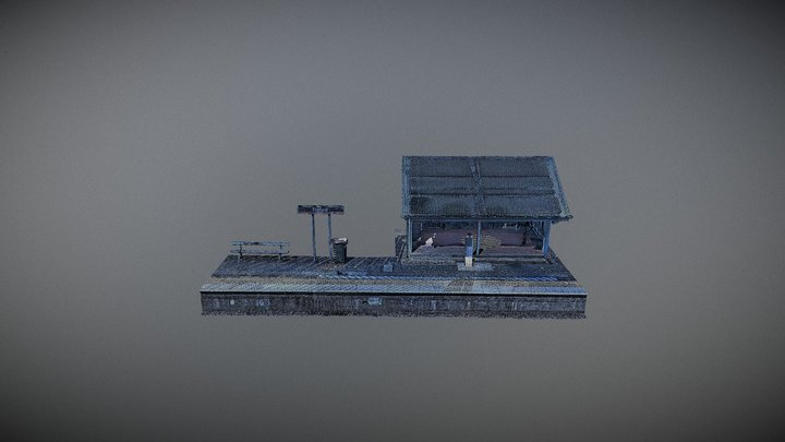 Fairfield Station - Waiting Shed 3D Model