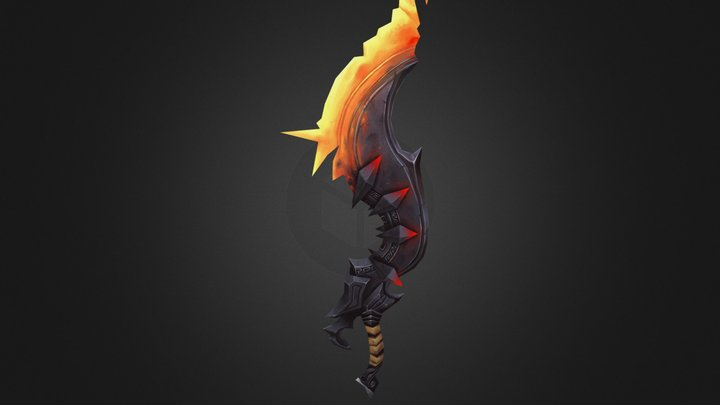 Magma Sword 3D Model
