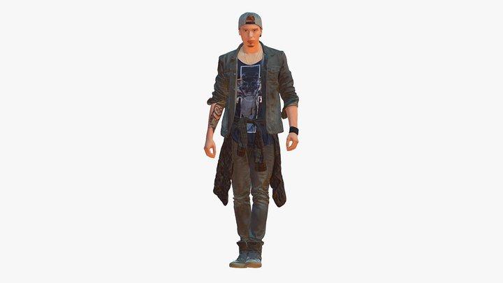 Man in jeans 1053 3D Model