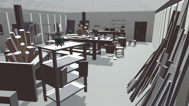 Sala Carpintero (En proceso) 3D Model
