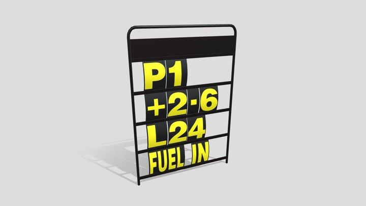 Pit Board 3D Model