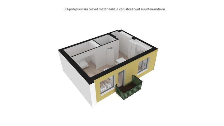 Mustalahdenkatu, Tampere, A7, 1h+kt+alk, 37,5m2 3D Model