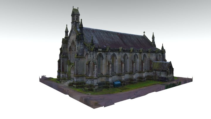3D Langholm Parish Church 3D Model