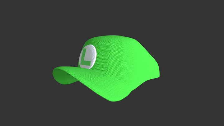 Luigi Hat (Fabric Baseball) 3D Model