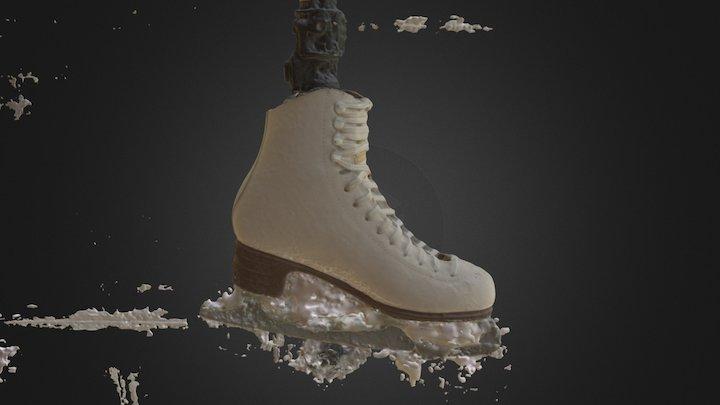 Ice Skate, Left, Untreated 3D Model