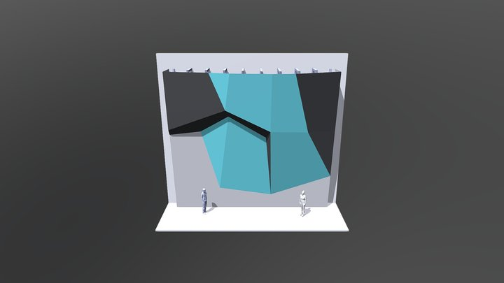 Эскиз скалодрома 3D Model