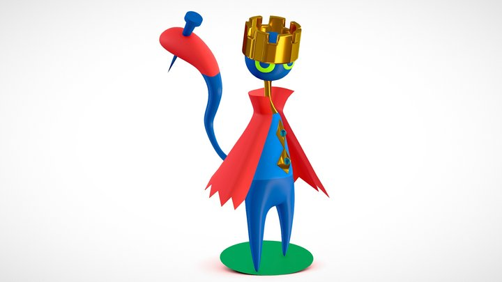 Cat King 3D Model