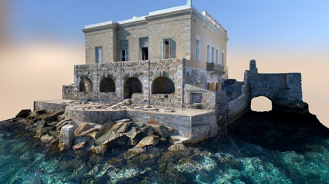 Building by the sea, Hermoupolis, Syros 3D Model