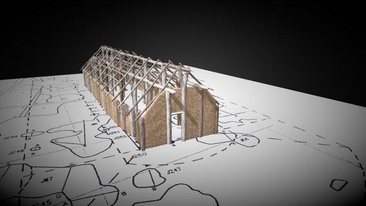 Neolitický dlouhý dům 3D Model
