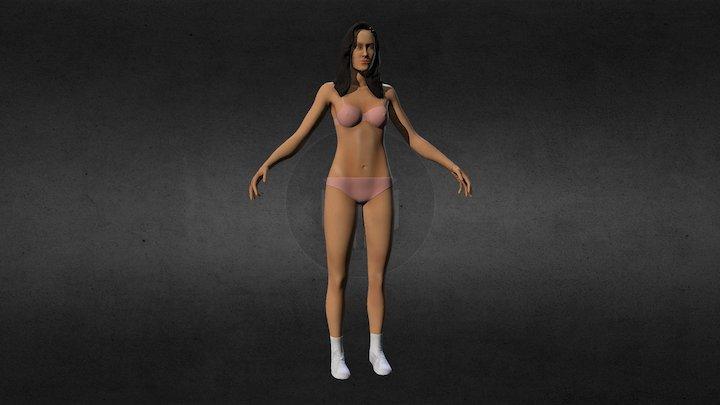 Female Antomical Base 3D Model