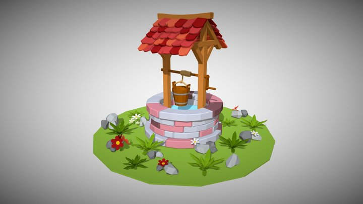 [Structure] Wishing Well 3D Model