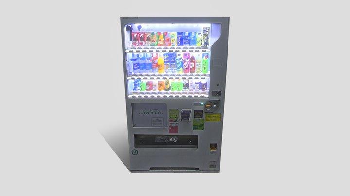 Japan Vending Machine Soft Drink 3D Model