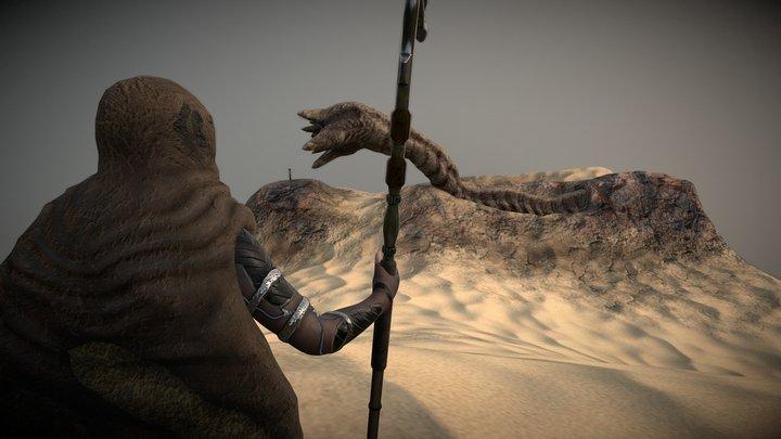 Dune - Sandworm riding ritual 3D Model