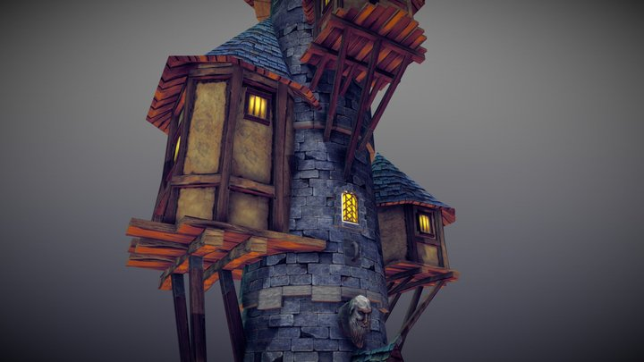 Wizard Tower 3D Model