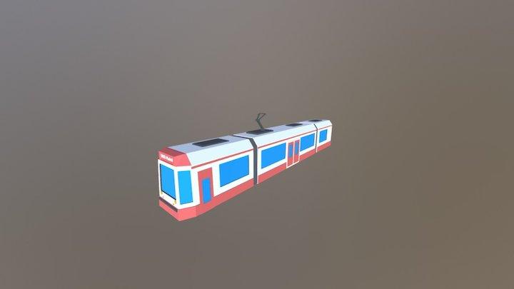 Low Poly - Urban Train 3D Model
