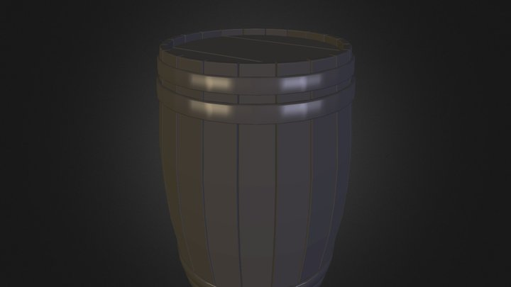 Wood Barrel SF 3D Model