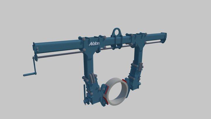 Rundmaterial- Wendegreifer PROD 03 3D Model