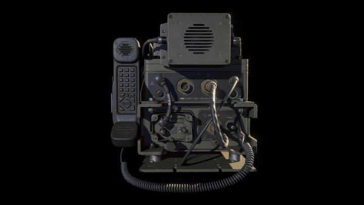 Barrett PRC-2082 Radiostation 3D Model